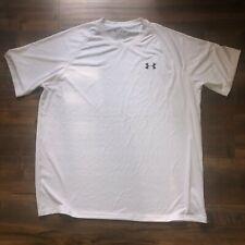 Under Armour Heatgear Loose White Workout Tee Shirt Mens Size XL