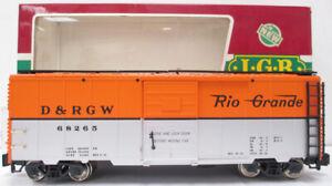 LGB 4091 Denver & Rio Grande Western Boxcar (Metal Wheels) LN/Box