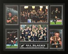 ALL BLACKS 2011 & 2015 RWC CHAMPIONS SIGNED LIMITED EDITION FRAMED MEMORABILIA