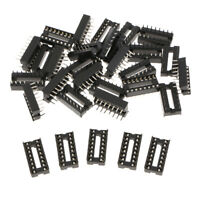 30pcs 16 pin IC Sockets DIP IC Sockets Adaptor Solder Type Socket 2.54mm