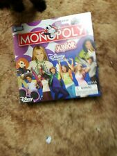 New Monopoly Junior Disney Channel Edition Board Game Hannah Montana Parker Bros
