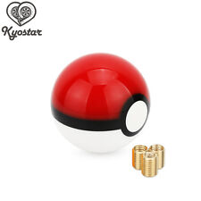 Pokemon Pokeball Shift Knob Go Ball Shifter Diameter 54mm Fit For Honda M10X1.5