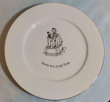 "Merry Masterpieces Christmas Dinner Plate ""Honest Kid I'm Not Santa"" Lincoln Mem"