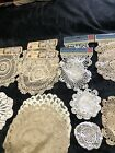 Lace And Crochet Doilles Lot Of 22