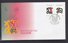 CHRISTMAS IS 2018 Year of the DOG Chinese ZODIAC Design set of 2 on FDC