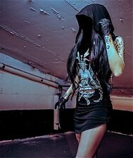 Toxic Vision Baphomet Hooded Dress GOTHIC METAL PENTAGRAM DARK SATANIC GOTH MINI
