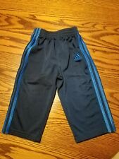 Adidas Infant Baby Boy Athletic Pants Navy with Blue Stripe 12 Months Euc