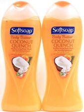 2 Softsoap 15oz Body Butter Coconut Quench Soft & Smooth Moisturizing Body Wash