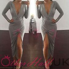 Full Length Patternless Long Sleeve Tall Dresses for Women