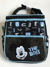 Diaper Bag Lunch Tote Small Disney Mickey Black Blue The Boss New
