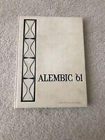 1961 ALEMBIC MADISON HIGH SCHOOL YEARBOOK - MADISON, NJ