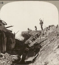 WW1 Stereoview. Hun Blockhouse in the Hindenburg Line Wrecked by our Artillery