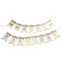 Paillettes Licorne joyeux anniversaire bannière dessin animé drapeaux fêtedécor