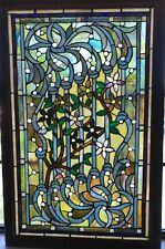 Stained Glass Window Tiffany Style, Cabochons and Framed