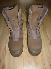 HAIX DESERT COMBAT HIGH LIABILITY BROWN SUEDE BOOTS SIZE 11M BRITISH ARMY ISSUE