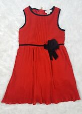 Kate Spade New York Girls Pleated Chiffon Dress Studio Red Size 8Y $109