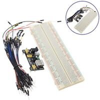 Cable Wires Breadboard Board 830 Point Solderless +Power Supply Module 3.3V/5V