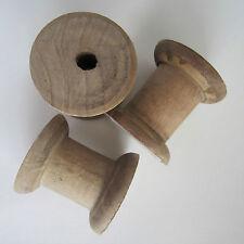 3 estilo Vintage bobina de madera bobinas Carretes Para Cintas De Almacenamiento de hilados de lana - 5x5cm