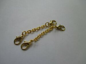 UK 2 Pieces 55 mm Gold Extension Link Necklace/Bracelet Jewellery Extender Chain