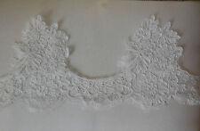 French vintage style ivory floral lace trim Bridal Wedding lace trim Per Yard