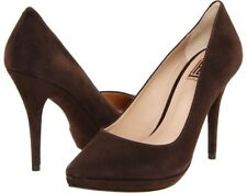 Pour La Victoire Daina Brown Suede Leather Pointed Platform Pumps 6M (NIB)