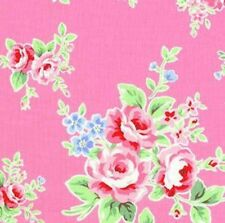 Cottage Shabby Chic Lecien Flower Sugar Floral 30841L-20 Pink Cotton Fabric BTY