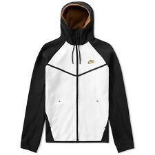 NIKE TECH FLEECE WINDRUNNER ZIP HOODIE BLACK WHITE BEIGE MED BNWT 805144-011