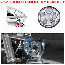 "5.75"" Chrome LED daymaker bullet headlight Harley breakout rocker FXSB FXCW"