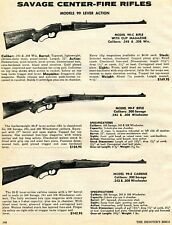 1974 Print Ad of Savage Model 99-C 99-F 99-E Center-Fire Lever Action Rifle
