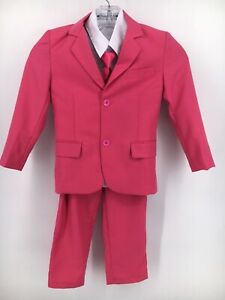 Pink Suit Boys Size 5 Wedding Holiday Pictures Formal Party 5 pc