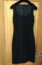 Dolce And Gabbana Black tailored pencil Dress Sz 42 UK 10 NWOT
