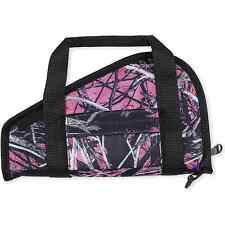 WOMENS Pink Camo PISTOL CARRYING CASE w/ Pocket Padded Handles Zippered Holder