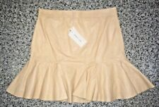 Derek Lam 10 Crosby Leather Mini Skirt Nude - Medium