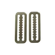 "2x Weight Belt Slide Serrated 2"" Stainless Steel (Scuba Diving Stopper Keeper)"