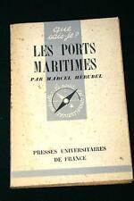 MARINE-MER,PORTS MARITIMES,HERUBEL,Que sais-je ?,n°100