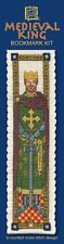 Medieval King Bookmark Cross Stitch Kit - Textile Heritage