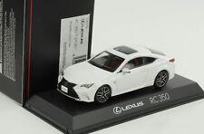 Lexus RC 350 f sport White Nova Glass flake 1:43 Kyosho DIECAST