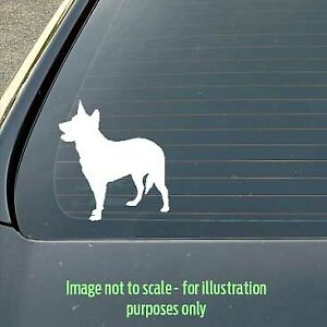 120mm Blue Heeler / Red Heeler / Cattle Dog Silhouette Decal