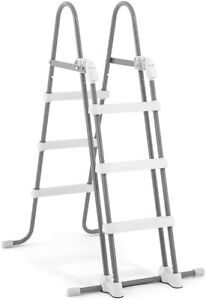 INTEX 28075 Safety Ladder For Pools Height 91 And 107cm, Levels Removable