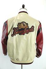 Leinenkugels Beer Jacket 100% Leather Snap Button Varsity Bomber Team Mens 48