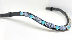 Blue Lace Crystal Browband Horse Browband Bling Brow Band