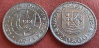 PORTUGAL REPUBLIC 20 ESCUDOS 1971 PORTUGUESE MOZAMBIQUE ALMOST UNCIRCULATED