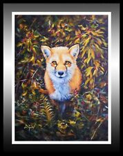 'Mr Fox', Wild Animals Oil Painting: A Fantastic Gift Idea!