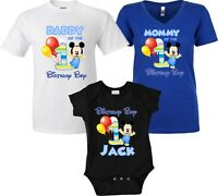 Baby Mickey Mouse Birthday Girl shirt Customized Family matching T-Shirts!
