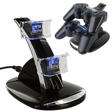 LED Dual Controller Charger Dock Station Stand Charging for Playstation PS3 #BE