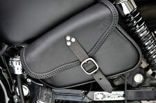 LEATHER SADDLE BAG FOR HARLEY DAVIDSON SPORTSTER IRON, 883, 1200 FORTY EIGHT