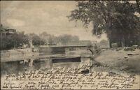 Rahway NJ Main St. Bridge c1905 Postcard