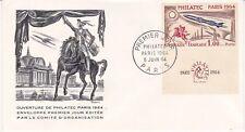 Enveloppe 1er jour FDC 1964 - Ouverture de Philatec Paris Comité d'Organisation