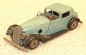 VINTAGE TRI-ANG MINIC WIND UP VAUXHALL TOWN COUPE CAR