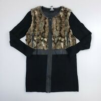 INC International Concepts Women's Furry Sweater Jacket Wool Blend Extra Large